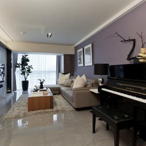 现代风装修效果图:紫着朴美