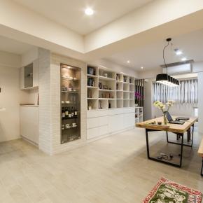现代风装修效果图:家与工作室的结合