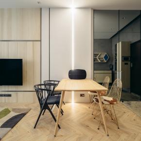 北欧风装修效果图:比家更像家的30坪度假窝