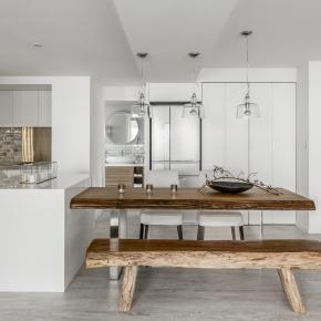现代风装修效果图:老屋翻新的纯白洁净