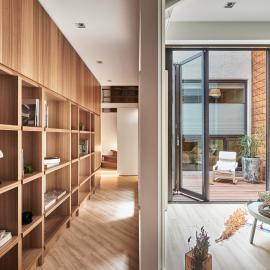 40坪的木質陽光宅