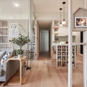 北欧风装修效果图:25坪享受空间流动阳光宅