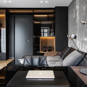 现代风装修效果图:黑色现代!跟时尚一起住