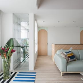 北欧风装修效果图:28坪洋溢着甜蜜的居家屋