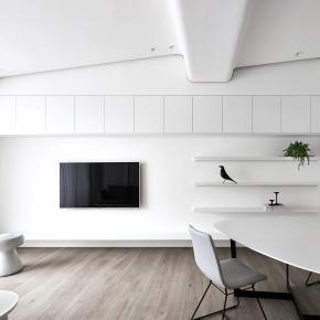 北欧风装修效果图:25坪被光呵护的白色浪漫