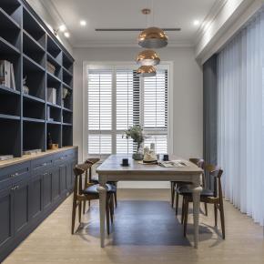 休闲多元风装修效果图:25坪享受伦敦蓝的英式居所