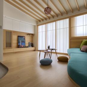 日式简约风装修效果图:Single Apartment