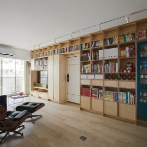 现代风装修效果图:Apartment L -Neihu