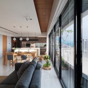 休闲多元风装修效果图:42坪休闲宅,享受美好时光