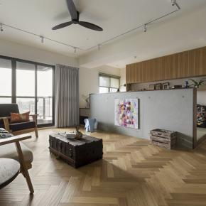 现代风装修效果图:三代同堂亲子宅