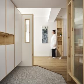 日式简约风装修效果图:一家三口24坪的新生活空间