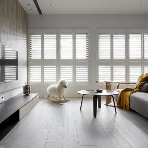 现代风装修效果图:41坪木质阳光宅