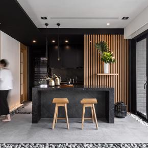 日式禅风装修效果图:40坪日式禅风美宅