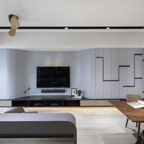 现代风装修效果图:板桥W宅