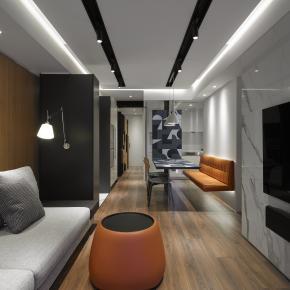 现代风装修效果图:18坪现代时尚收纳宅
