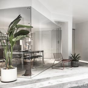 大胆退缩室内场域 置入玻璃方盒创造街屋新景