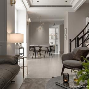 用古典点缀雾乡色,打造现代温馨美式宅