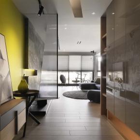 现代风装修效果图:30坪现代优雅日光宅