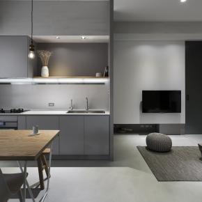 简约风装修效果图:14坪小宅,独享宽敞居家生活
