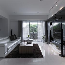 黑白簡約時尚 夢想新婚居